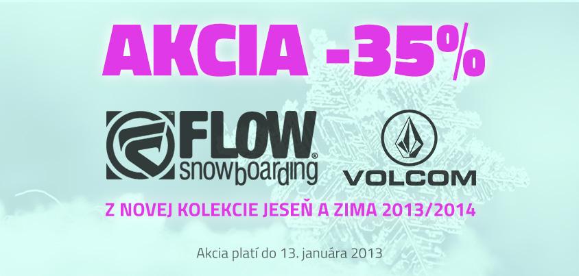 Flow a Volcom -35 %!
