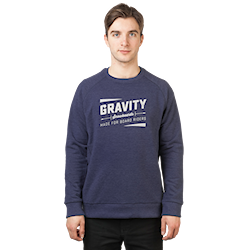 Gravity Jeremy Crew denim heather 2017