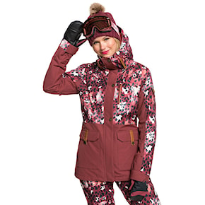 Jacket Roxy Andie Parka oxblood red leopold 2020/2021