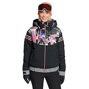 Jacket Roxy Pop Snow Meridian true black pop flowers 2020/2021