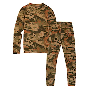 Koszulka Burton Fleece Base Layer Set Kids kelp birch camo 2020/2021
