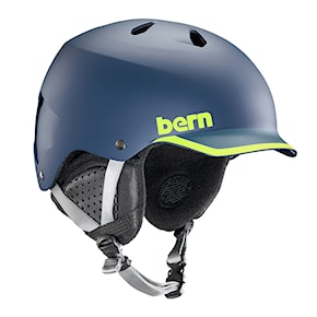 Helmet Bern Watts satin navy/hyper green trim 2020/2021