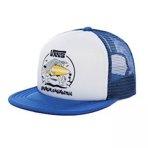 Cap Vans Wheres The Beach Trucker Boys white/victoria blue 2020