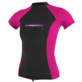 Lycra O'Neill Girls Premium Skins S/s Rash black/berry/black 2019