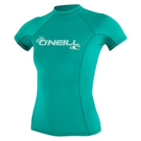 Lycra O'Neill Wms Basic Skins S/s Rash light aqua 2021