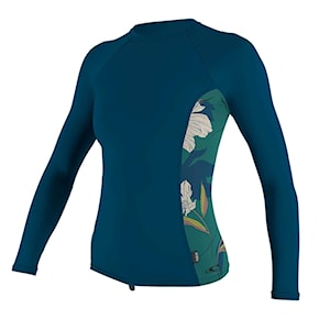 Lycra O'Neill Wms Side Print L/s Rash Guard french navy/bridget 2020