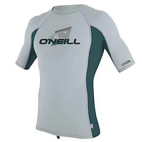 Lycra O'Neill Youth Premium Skins S/s Rash cool grey/teal/cool grey 2019