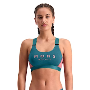 Mons Royale Stella X-Back Bra deep teal/pink clay 2021
