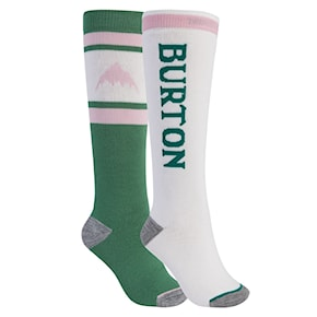 Snow socks Burton Wms Weekend Midweight 2Pk spruce/stout white 2020/2021