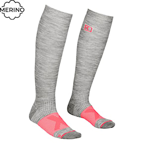 Snow socks Ortovox Wms Tour Compression grey blend 2020/2021