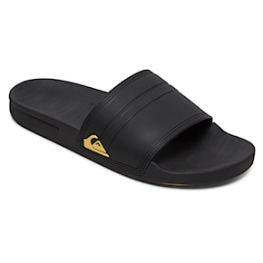 Quiksilver Rivi Slide black/black/yellow 2021