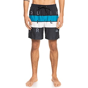 Boardshortky Quiksilver Word Block Volley 17 black 2021