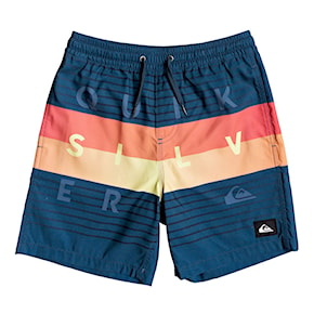 Boardshortky Quiksilver Word Block Volley Youth 15 majolica blue 2020