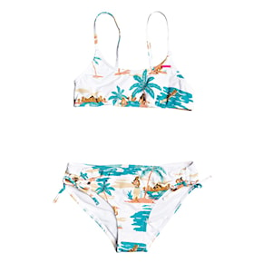 Strój kąpielowy Roxy Love Waimea Bralette Set bright white honolulu 2020