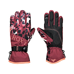 Rukavice Roxy Roxy Jetty oxblood red leopold 2020/2021