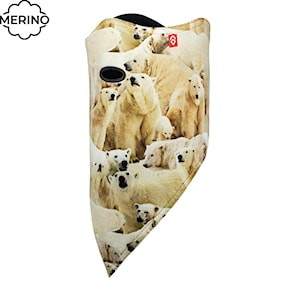 Headscarf Airhole Facemask 2 Layer polar bears 2018/2019