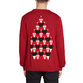 Sweater Volcom Santastone Cardigan deep red 2019