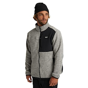 Tech Hoodie Burton Hayrider Sweater Fz Fleece grey heather 2020/2021