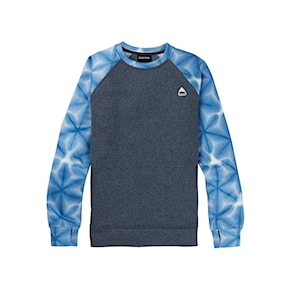 Tech Hoodie Burton Wms Oak Crew dress blue/blue daliola shibori 2020/2021