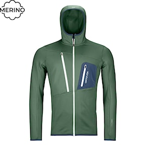 Tech Hoodie Ortovox Fleece Grid Hoody green forest 2020/2021
