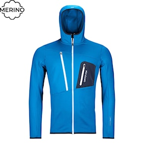Tech Hoodie Ortovox Fleece Grid Hoody safety blue 2020/2021