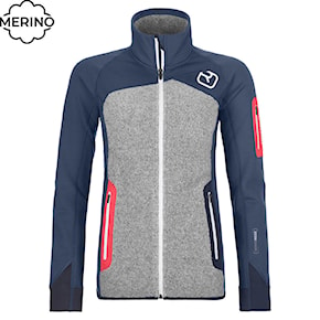Tech Hoodie Ortovox Wms Fleece Plus Jacket night blue 2020/2021