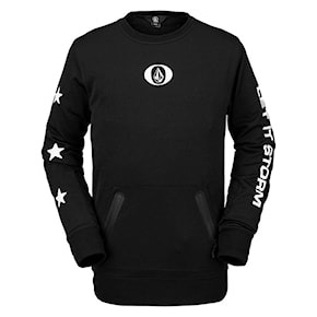 Tech Hoodie Volcom Let It Storm Crew Fleece black 2020/2021
