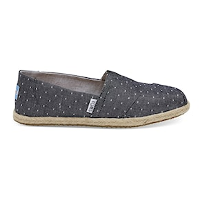 Tenisky Toms Alpargata Rope black dot chambray rope 2020