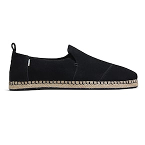 Tenisky Toms Deconstructed Alpargata Rope black suede 2020
