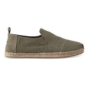 Tenisky Toms Deconstructed Alpargata Rope olive washed canvas 2020