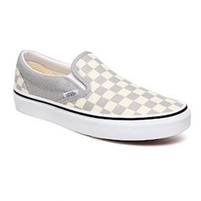 Tenisky Vans Classic Slip-On checkerboard silver/true white 2020