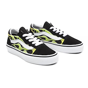 Sneakers Vans Old Skool Junior slime flame black/true white 2021