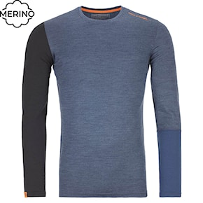 Top Ortovox 185 Rock'n'wool Long Sleeve night blue blend 2020/2021