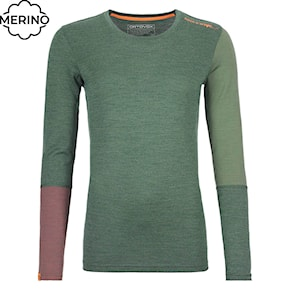 Top Ortovox Wms 185 Rock'n'wool Long Sleeve green forest blend 2020/2021