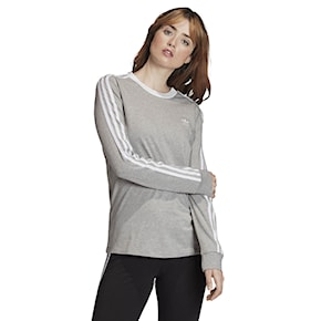 T-shirt Adidas 3-Stripes Ls medium grey heather/white 2020