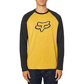Tričko Fox Tournament Ls Tech Tee mustard 2020