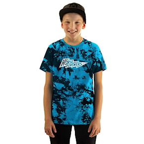 Tričko Horsefeathers Flash Youth blue tie dye 2021