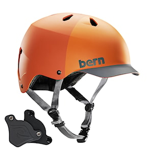 Bern Watts H2O matte orange hatstyle