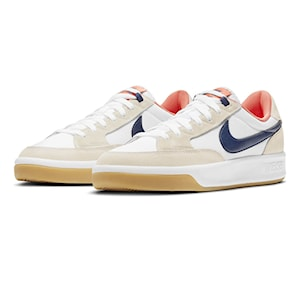 Nike SB Adversary Premium white/midnight navy-turf orange
