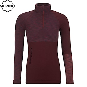 Ortovox Wms 230 Competition Zip Neck dark wine blend