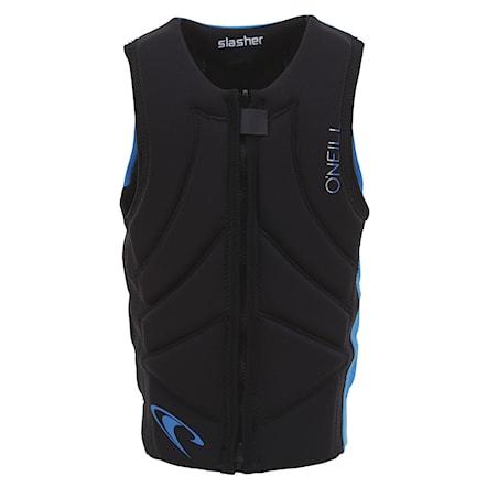 O/'Neill Youth Kids Junior Slasher Comp Impact Vest Black Ocean Easy Stretch