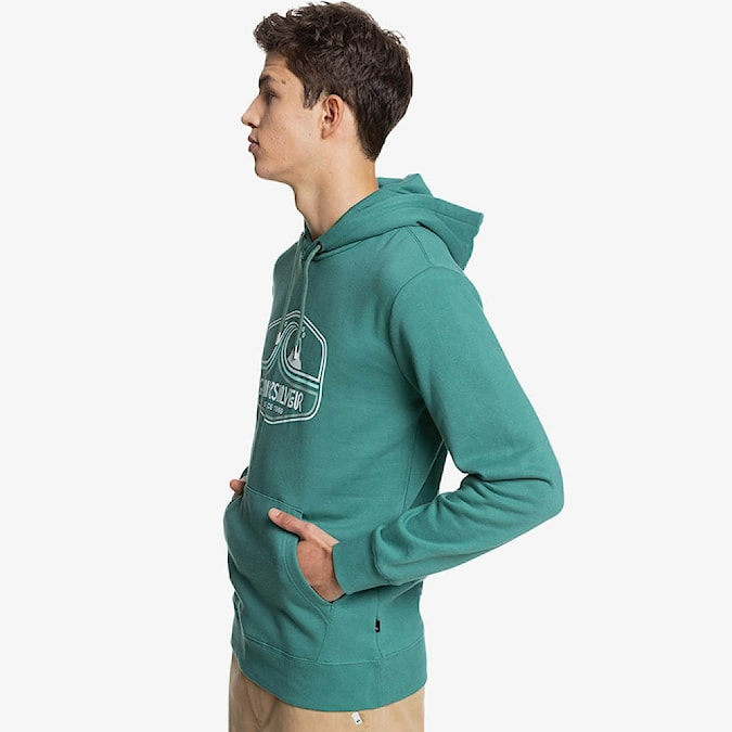 Mikina Quiksilver Highway Vagabond Hood blue spruce 2021