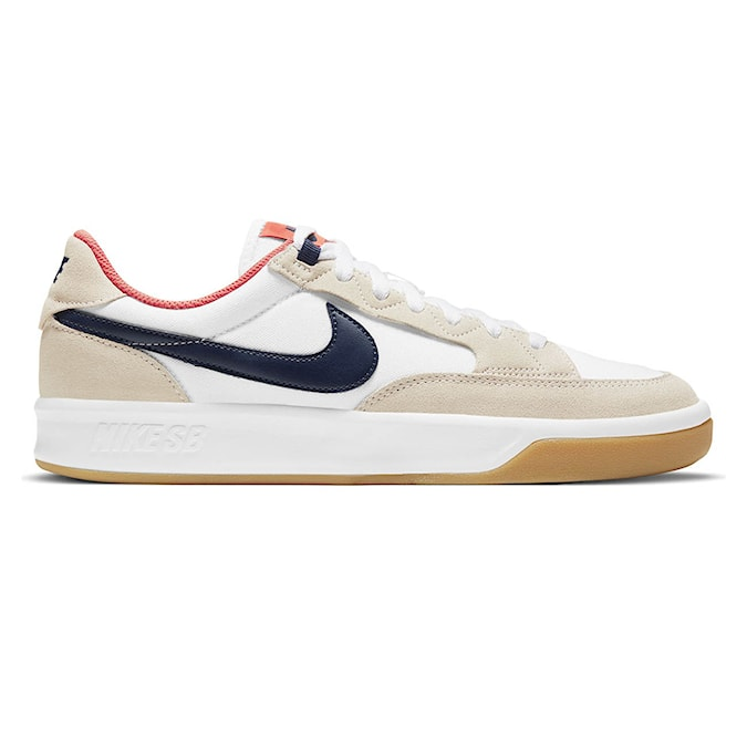 Tenisky Nike SB Adversary Premium white/midnight navy-turf orange 2021
